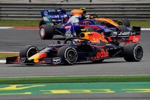 Пьер Гасли, Red Bull Racing RB15, Даниил Квят, Scuderia Toro Rosso STR14, и Ландо Норрис, McLaren MCL34