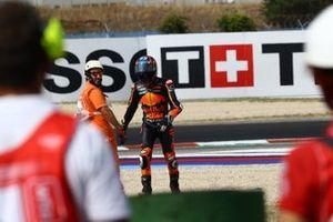 Brad Binder, Red Bull KTM Factory Racing after the crash