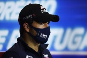Sergio Perez, Racing Point, in conferenza stampa