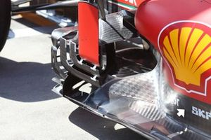 L'accès pour la recharge d'air sur la Ferrari SF1000