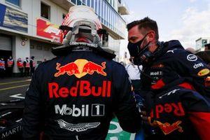 Max Verstappen, Red Bull Racing in Parc Ferme