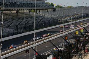 Restart: Scott Dixon, Chip Ganassi Racing Honda, führt