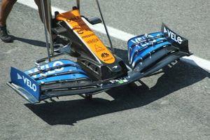McLaren MCL35, dettaglio dell'ala frontale
