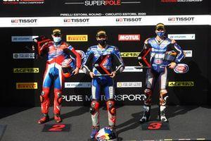 Leon Haslam, Team HRC, Toprak Razgatlioglu, Pata Yamaha, Garrett Gerloff, GRT Yamaha, i primi 3 qualificati