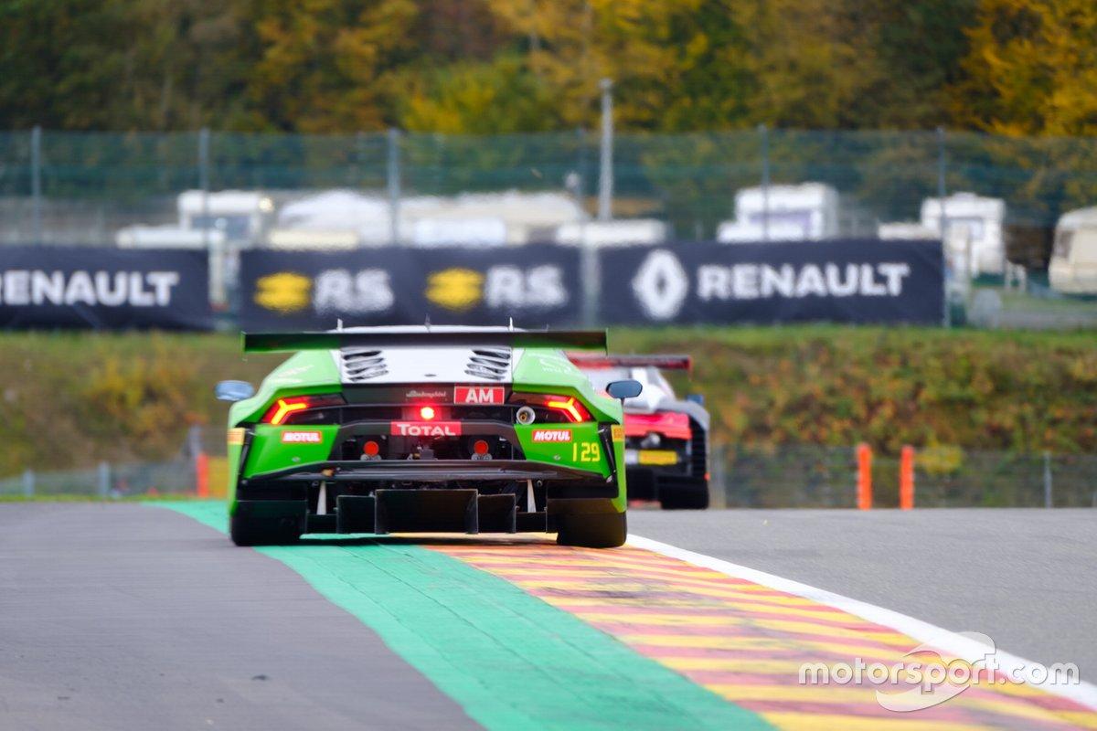 #129 Raton Racing Lamborghini Huracan GT3 Evo: Christoph Lenz, Michael Petit, Stefano Costantini, Lucas Mauron