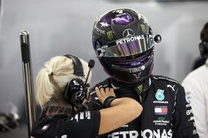 Angela Cullen, Physio for Lewis Hamilton, with Lewis Hamilton, Mercedes-AMG F1