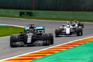 Льюис Хэмилтон, Mercedes F1 W11, Николя Латифи, Williams FW43, Кевин Магнуссен, Haas VF-20