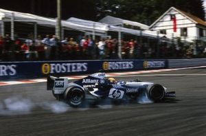 Antônio Pizzonia, Williams FW26 BMW, locks up