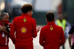 Mattia Binotto, Team Principal Ferrari, and Charles Leclerc, Ferrari
