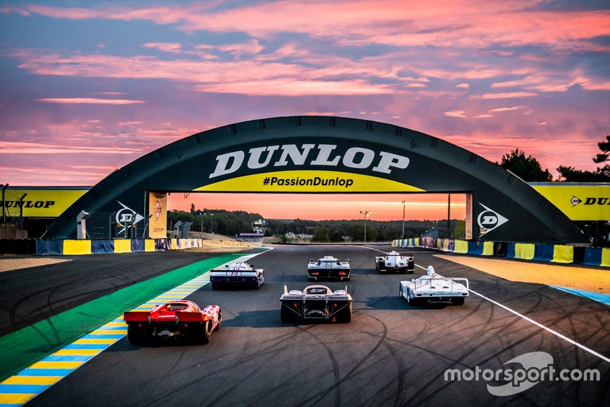 Os seis Porsches vencedores de Le Mans: Porsche 917 KH de 1971, Porsche 936/81 Spyder de 1981, Porsche 917 KH de 1970, Porsche 911 GT1 de 1998, Porsche 962 C de 1987, e o Porsche 919 Hybrid de 2017