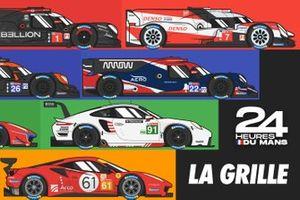 La grille de départ des 24 Heures du Mans 2020