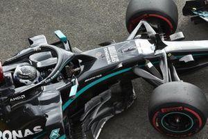 Valtteri Bottas, Mercedes F1 W11 EQ Performance, leaves the garage