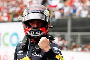 Max Verstappen, Red Bull Racing RB14, fête sa victoire