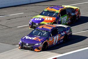 Denny Hamlin, Joe Gibbs Racing, Toyota Camry FedEx Freight, Kyle Busch, Joe Gibbs Racing, Toyota Camry M&M's Halloween