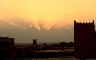 Sonnenuntergang in Riad