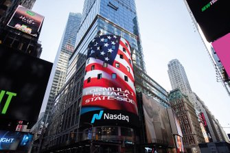 Formula 1 is back on Nasdaq billboard