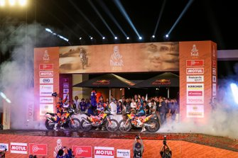 Podium: Red Bull KTM Factory Racing KTM: Toby Price, Matthias Walkner, Sam Sunderland
