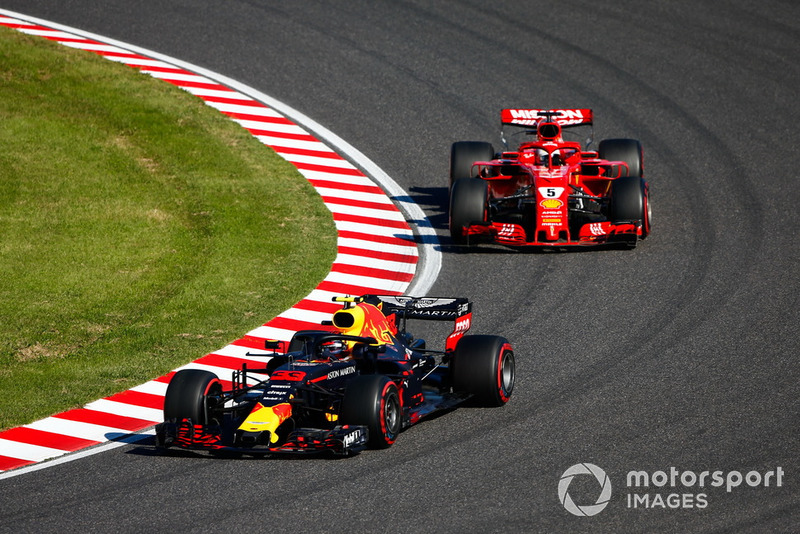 Contact with Verstappen leaves Vettel down the order
