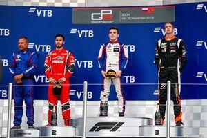 Podio: ganador de la carrera David Beckmann, Trident, segundo lugar Joey Mawson, Arden International, tercer lugar Richard Verschoor, MP Motorsport