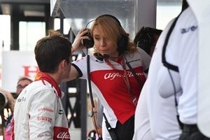 Charles Leclerc, Sauber and Ruth Buscombe, Sauber Race Strategist