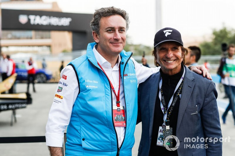 Alejandro Agag, PDG de la Formule E, et Emerson Fittipaldi