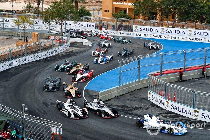 Aksi balapan Formula E