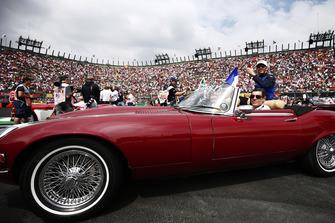 Pierre Gasly, Scuderia Toro Rosso, in the drivers parade