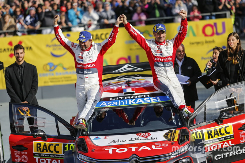 Winners Sébastien Loeb, Daniel Elena, Citroën World Rally Team Citroën C3 WRC