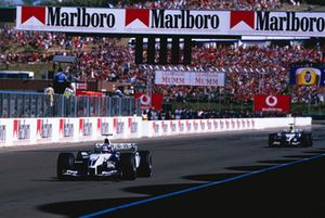 Juan Pablo Montoya, Williams FW25; Ralf Schumacher, Williams FW25