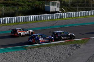 Jessica Bäckman, WestCoast Racing Volkswagen Golf GTI TCR, Francisco Abreu, Sports & You Peugeot 308 TCR, Martin Ryba, Brutal Fish Racing Team Volkswagen Golf GTI TCR