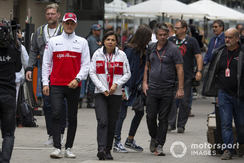 Marcus Ericsson, Sauber and Maria Guidotti, Sauber