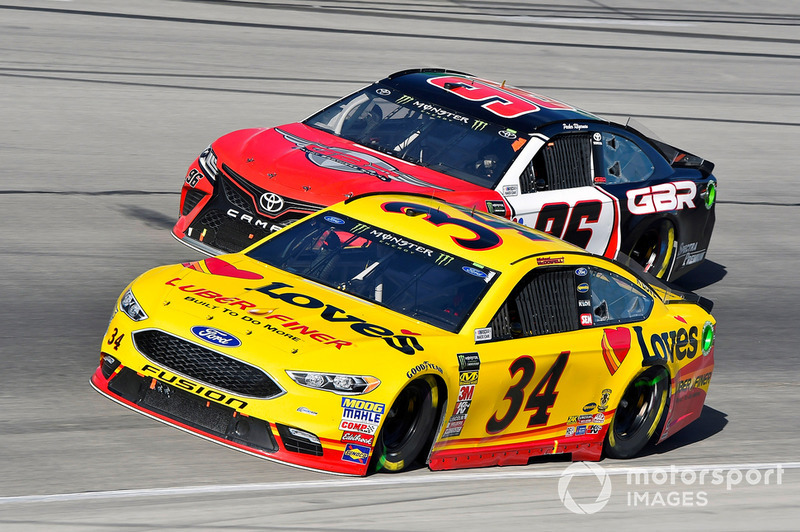 Michael McDowell, Front Row Motorsports, Ford Fusion Love's/ Luber Finer and Parker Kligerman, Gaunt Brothers Racing, Toyota Camry Gaunt Brothers Racing