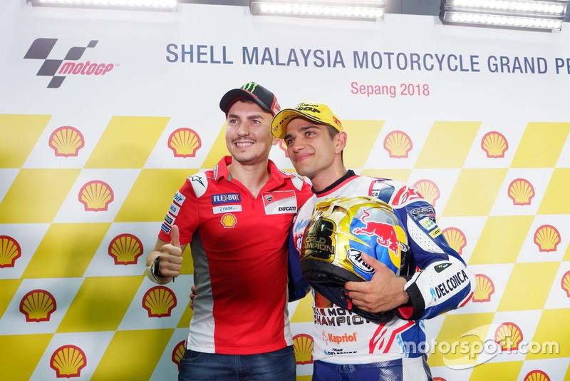 Jorge Lorenzo, Ducati Team con Jorge Martin, Del Conca Gresini Racing Moto3