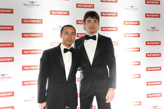 Nicolas Todt with Ferrari F1 driver Charles Leclerc