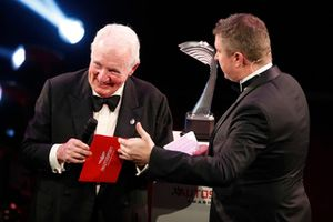 Paddy Hopkirk appears on stage to present the Rally Car of the Year award