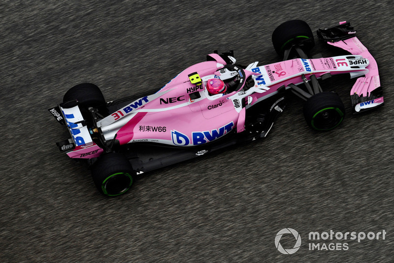 6. Эстебан Окон, Racing Point Force India F1 VJM11, 1:34.145