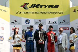 First placed Nayan Chatterjeee, second placed Karthik Tharani, third placed Arya Singh