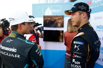 Mitch Evans, Jaguar Racing, Andre Lotterer, DS TECHEETAH, talk during qualifying