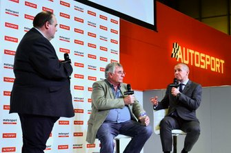 Edd Straw, Gary Anderson and Stuart Codling on stage