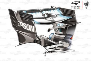 Mercedes F1 AMG W09 rear wing Azerbaijan GP