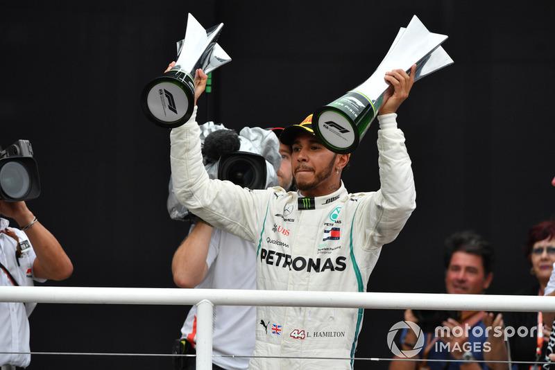Ganador del GP de Brasil 2018: Lewis Hamilton, Mercedes AMG F1
