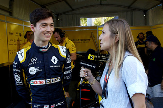Jack Aitken, Renault F1 Team with Julia Piquet