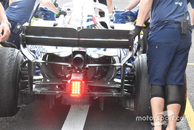 Williams FW41 rear detail
