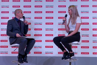 Esmee Hawkey talks about the W Series to Stuart Codling on the Autosport Stage