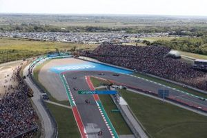 Charles Leclerc, Ferrari SF21, Carlos Sainz Jr., Ferrari SF21, Daniel Ricciardo, McLaren MCL35M, e Lando Norris, McLaren MCL35M