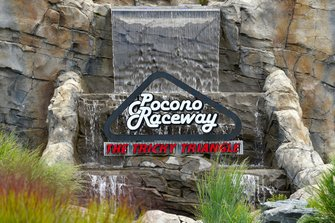 Pocono Raceway entry sign, atmosphere