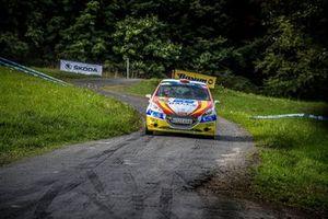 Efren Llarena, Sara Fernandez, Peugeot 208 R2, Barum Czech Rally Zlin, FIA ERC