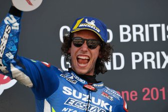 Подиум: победитель Алекс Ринс, Team Suzuki Ecstar