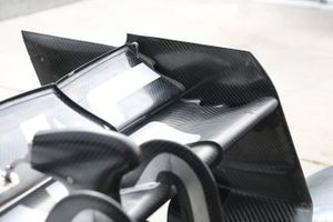 Haas F1 Team VF-19 rear wing detail