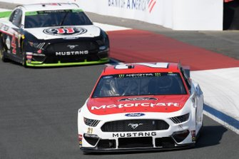 Paul Menard, Wood Brothers Racing, Ford Mustang Motorcraft / Quick Lane Tire & Auto Center, Kevin Harvick, Stewart-Haas Racing, Ford Mustang Jimmy John's